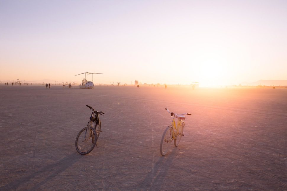 bikes at burning man donated