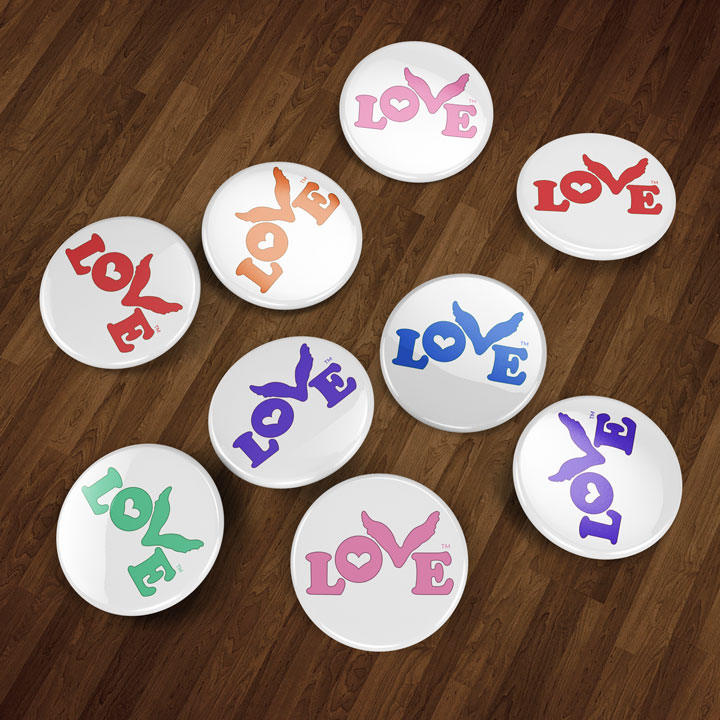 Love Button Global Movement Buttons
