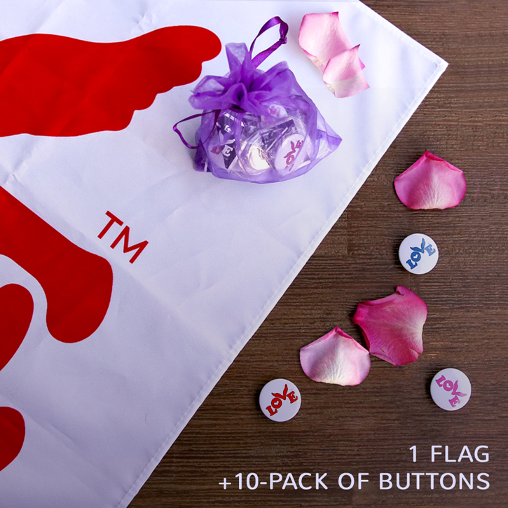 Love Flag and Button Bundle 1