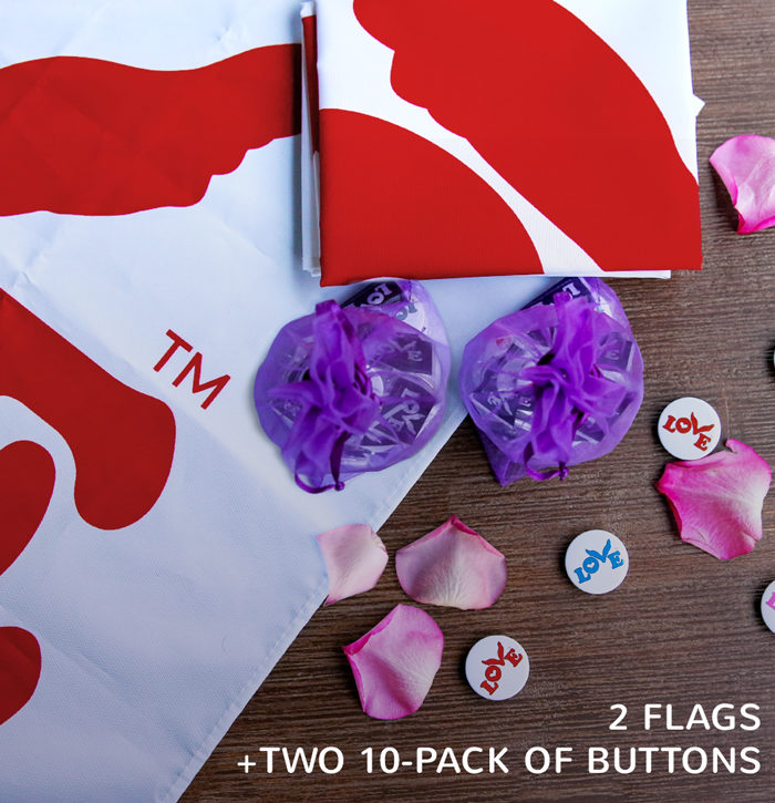 Love Flag and Button Bundle 2