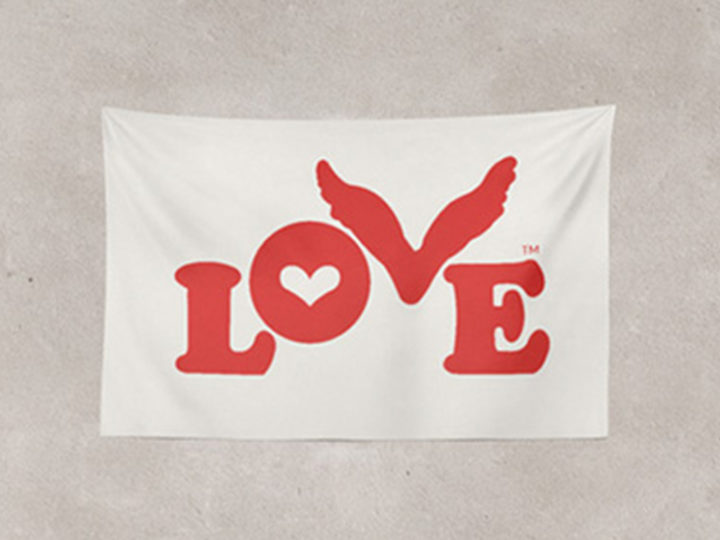 Display Your Love with a Love Button Prayer Flag