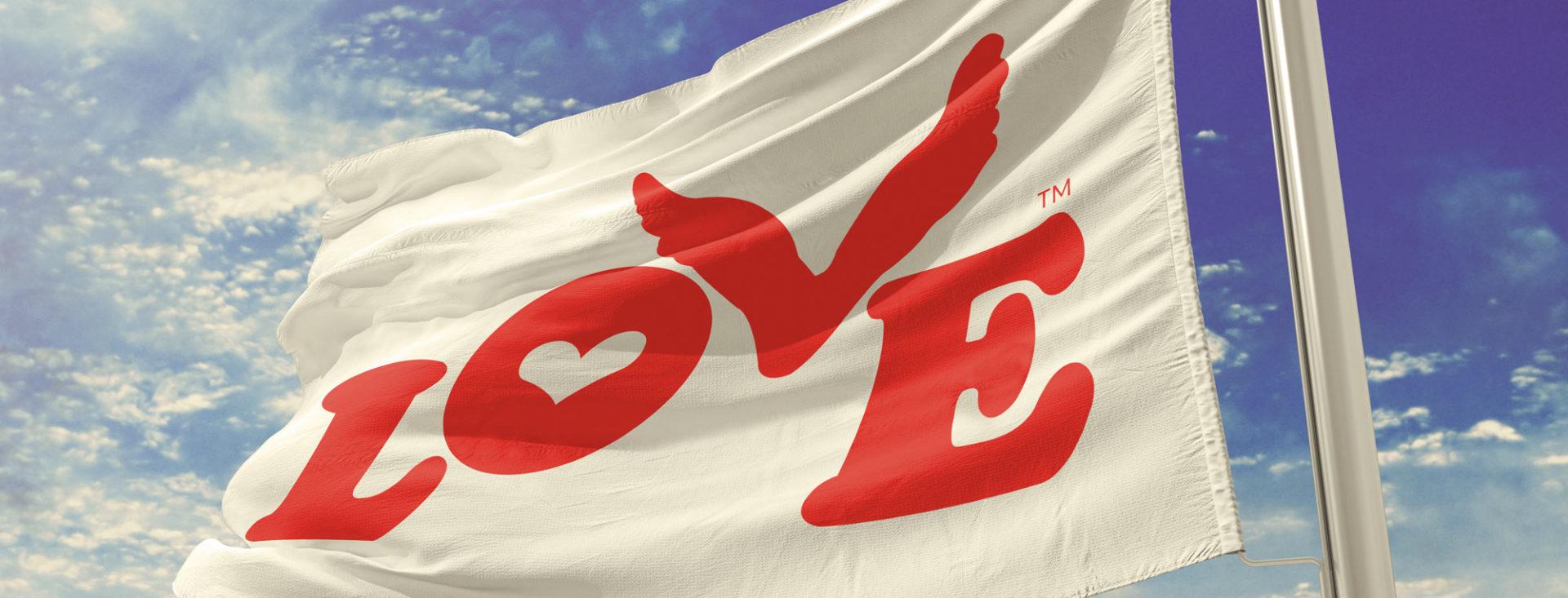Love Button Flag