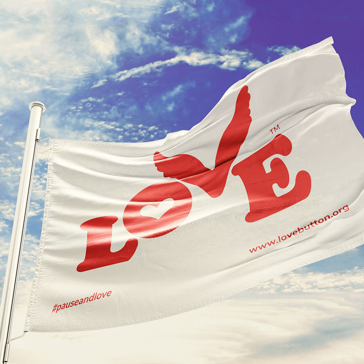 Love Button Global Movement Flag