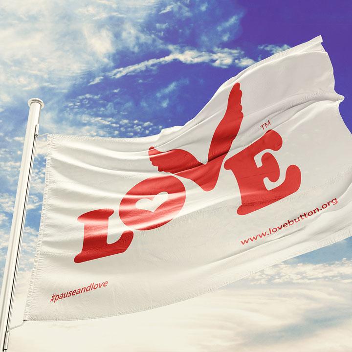Love Button Global Movement Flag