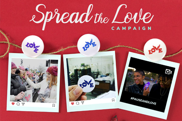 Celebrate Valentine's Day, with Love Button's Spread the Love Campaign