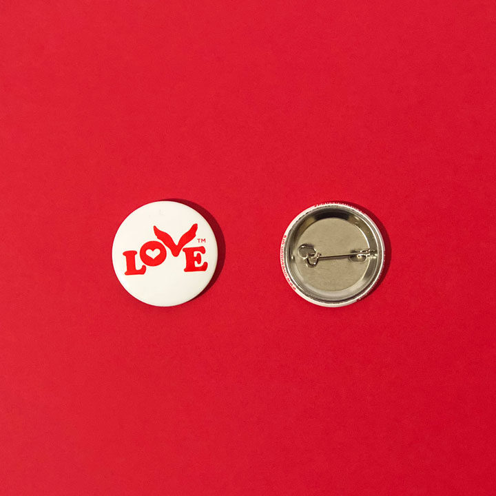Love Button Pin
