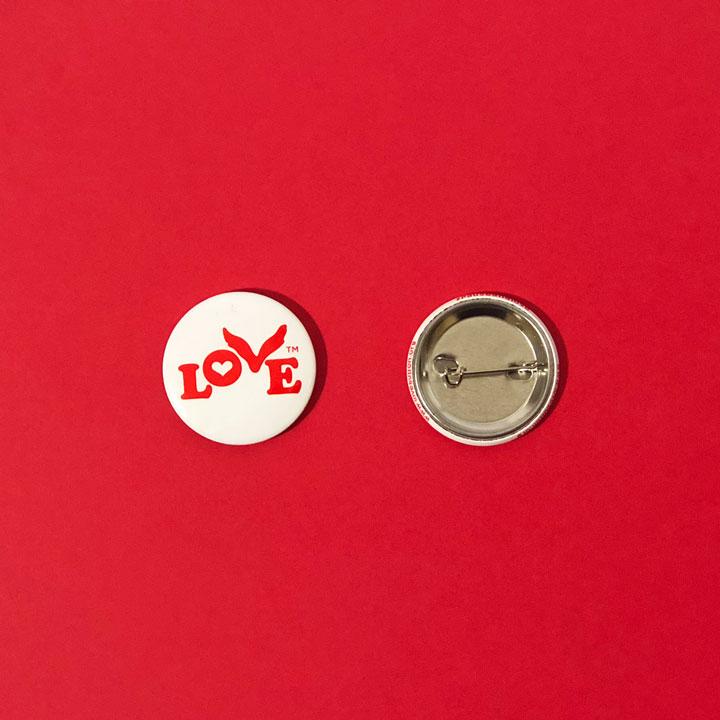Love Button Pin
