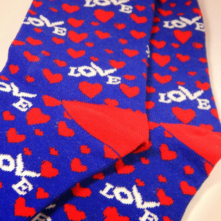 Love Button Cotton Socks