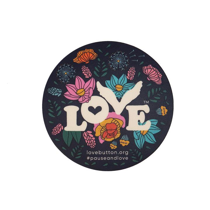 Floral Love Sticker Single