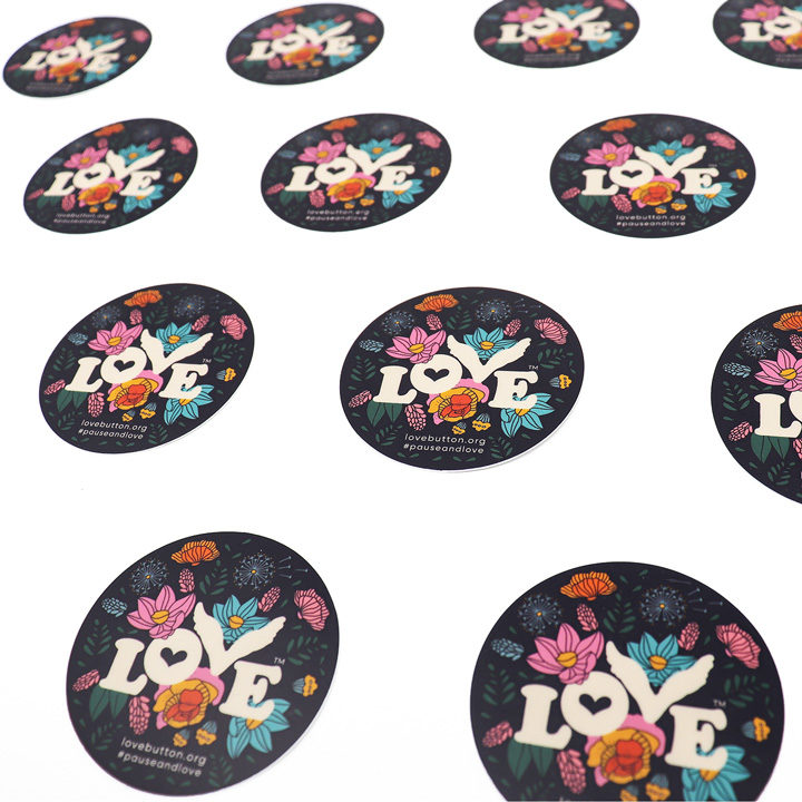 Floral Love Stickers