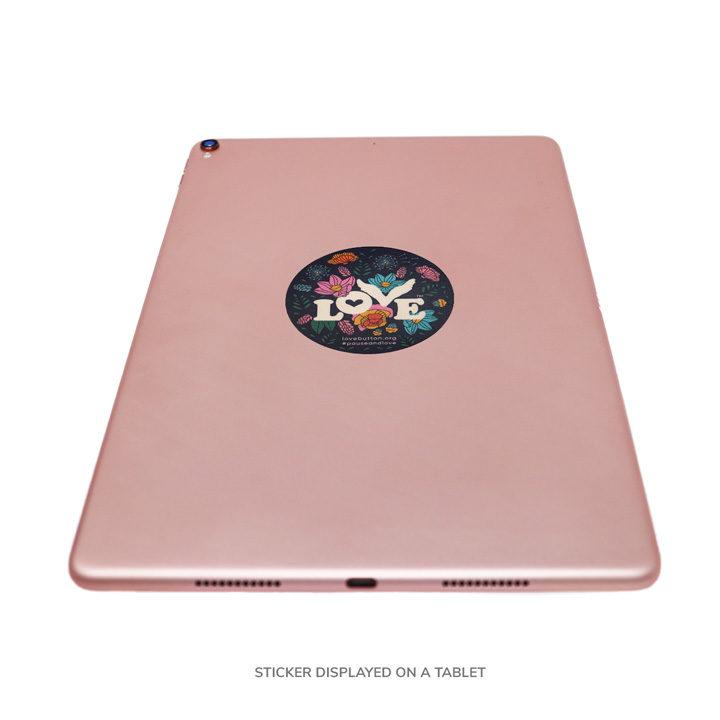 Floral Love Sticker on iPad