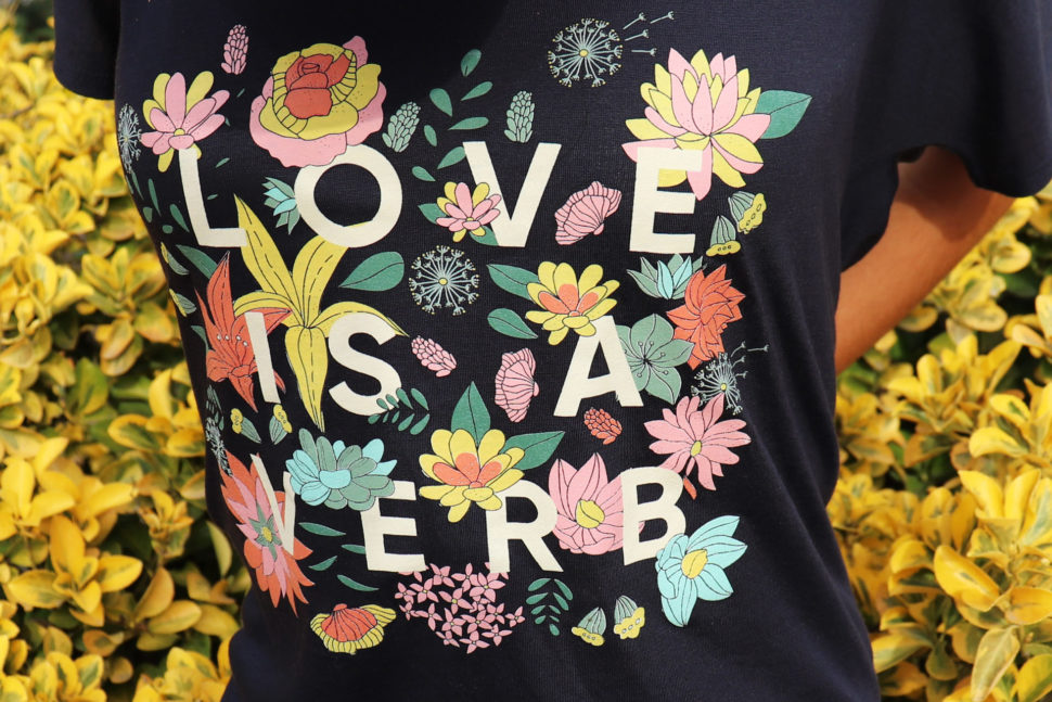 Love is a Verb Women's Tee