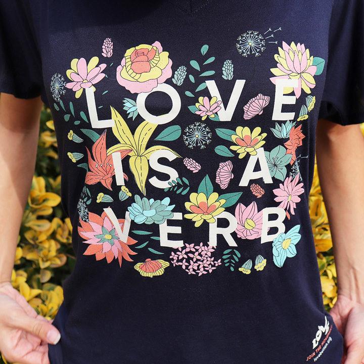Love is a Verb Women's V-Neck Women's Tee