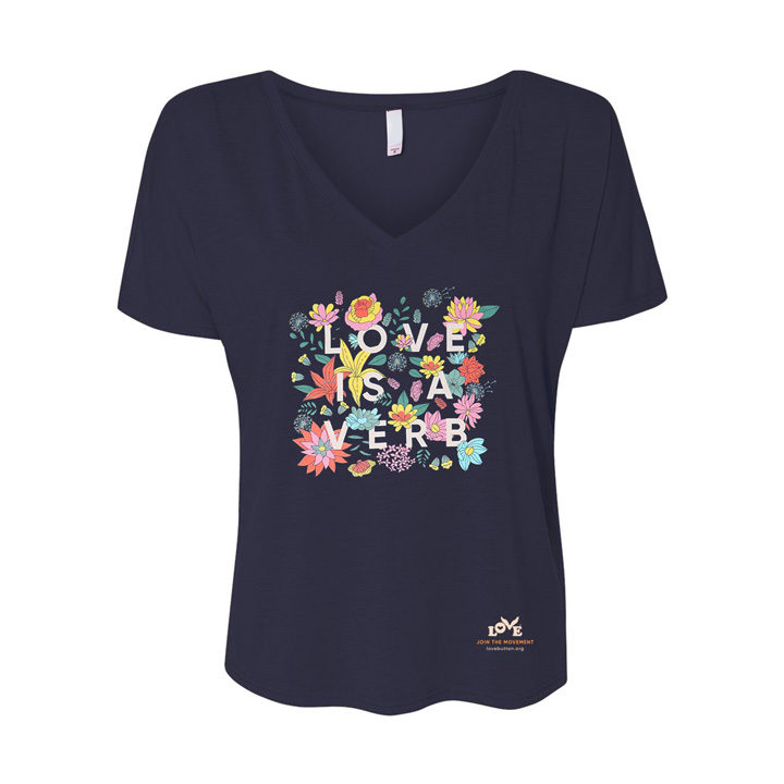 Love is a Verb Women's V-Neck Women's Tee