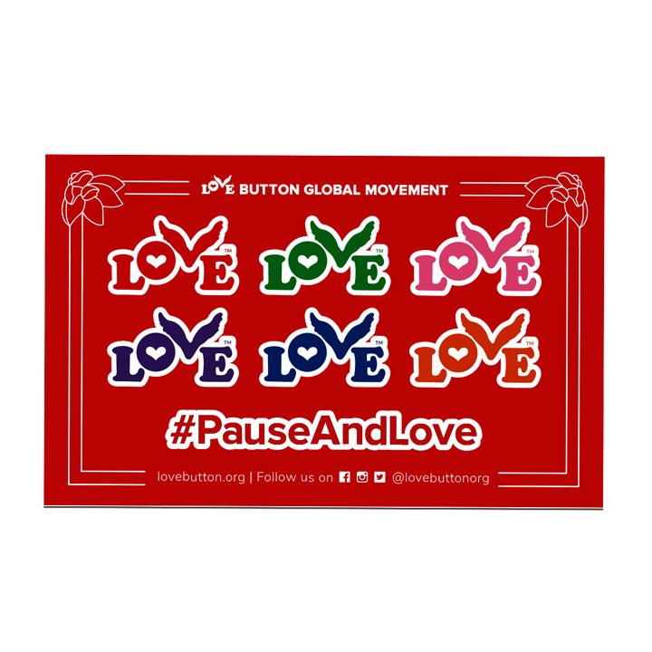 Love Button Sticker Sheet