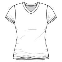 Love Button V-Neck T-Shirt