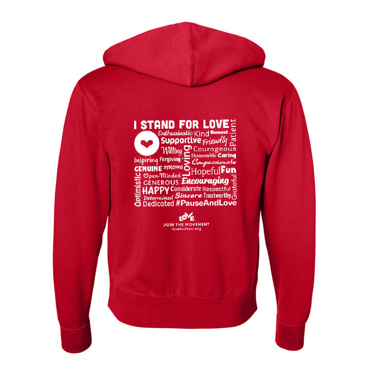 Stand for Love Zip Hoodie