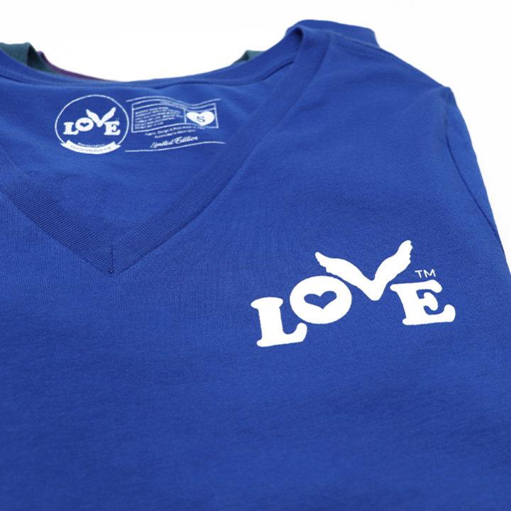 Love Button Women's V-Neck T-Shirt