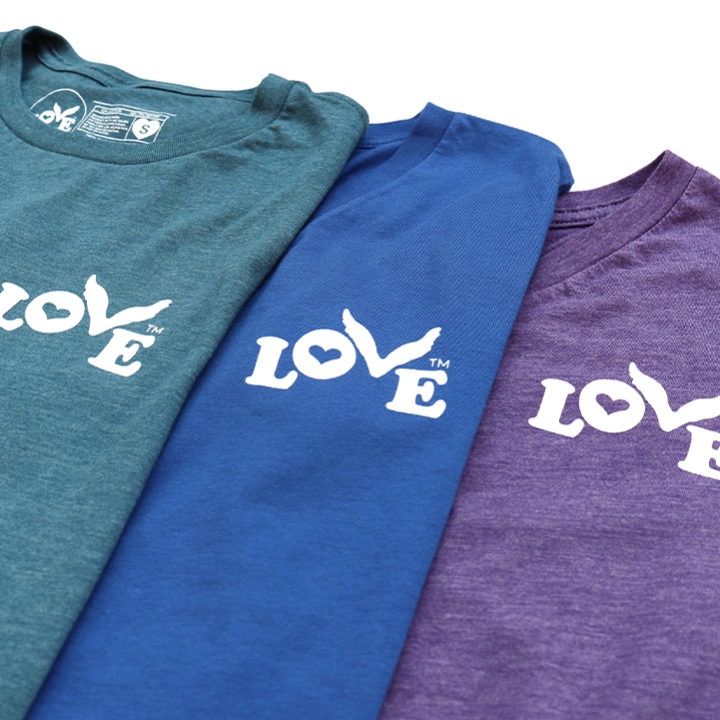 Love Button Stand for Love T-Shirts