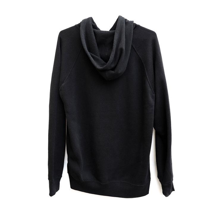 Love Button Pullover Hoodie (Black)