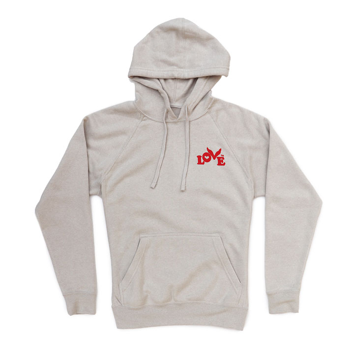 Love Button Pullover Hoodie (Stone)