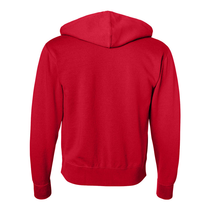 Love Button Unisex Zip Hoodie (Red)