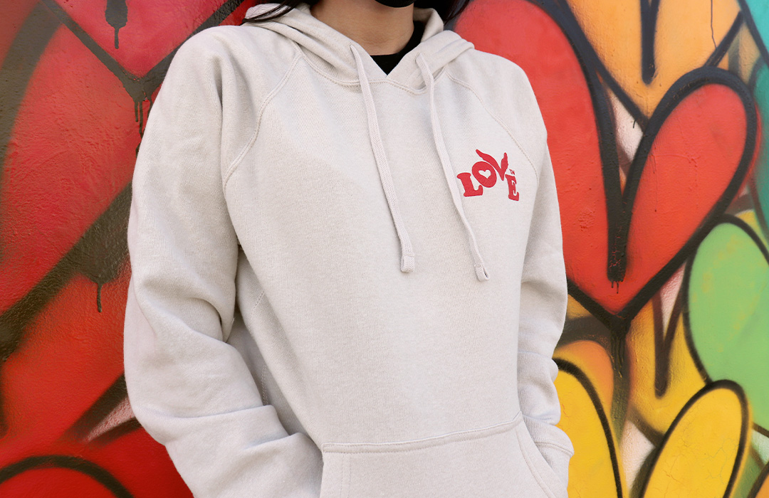 New Love Button Pullover Hoodies