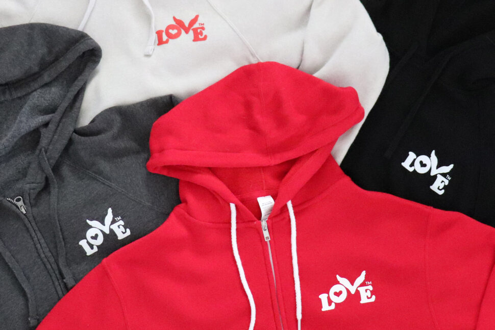 New Love Button Pullover and Zip Hoodies