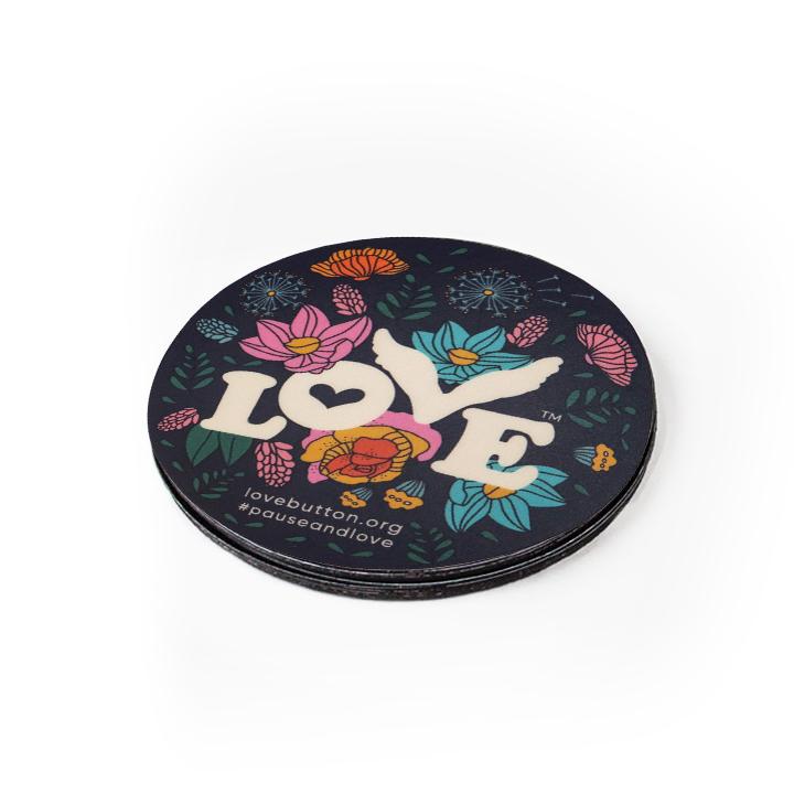 Love Button Floral Magnet
